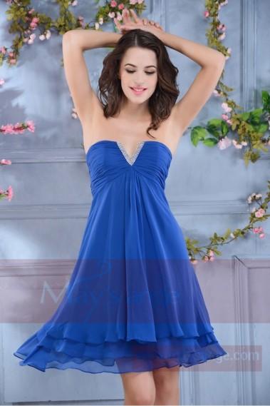 Robe de cocktail Bleu Océan C568 - C568 #2